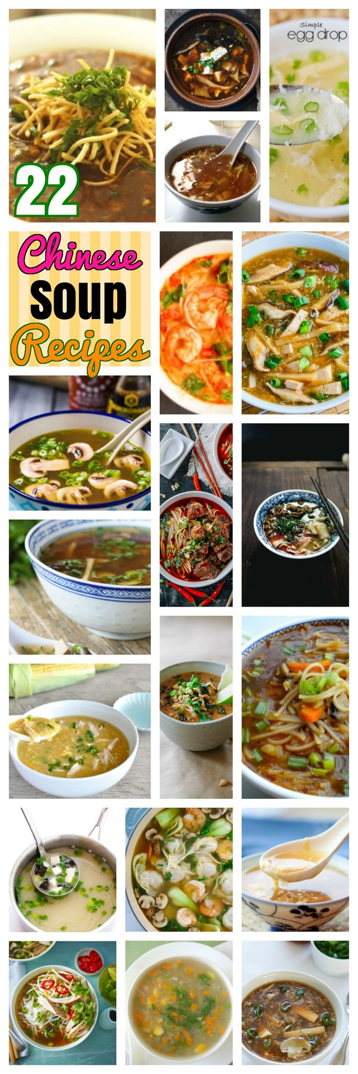 22 Immensely Delicious Chinese Soup Recipes. Easy spicy and appetizing Chinese egg chicken and vegetarian noodle soup recipes. Some Traditional and herbal, Wonton and Manchow soup recipes too..