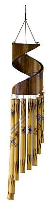 """Bamboo Spiral Wind Chime 23"""""""