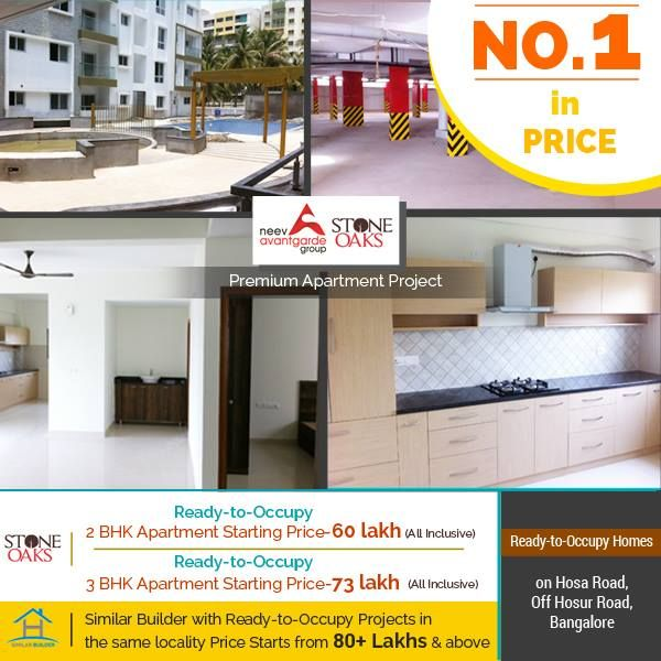 With an Excellent Location, Amenities, Design & being Ready-To-Occupy - the Pricing of our Homes is Honest with no hidden charges or fees. StoneOaks is Truly the No.1 Ready-To-Move-In Residential Apartment Project on Hosa Road (off. Hosur Road), Bangalore. Don't take our word for it; Make a Site Visit Call: +91 76760 09999 or visit http://neevavantgarde.com/stone-oaks  #readytomove #apartment #electronicscity #hosurroad #hosaroad #apartmentprice