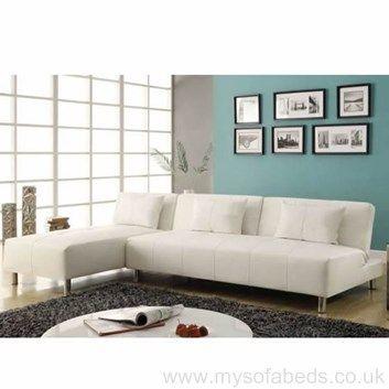 Nantes Corner Sofa Bed Faux Leather