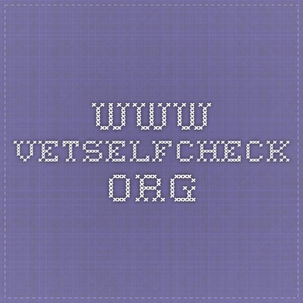 www.vetselfcheck.org