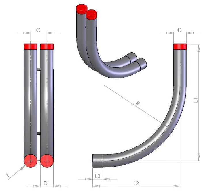 indføringsbøjning dobbelt side/side