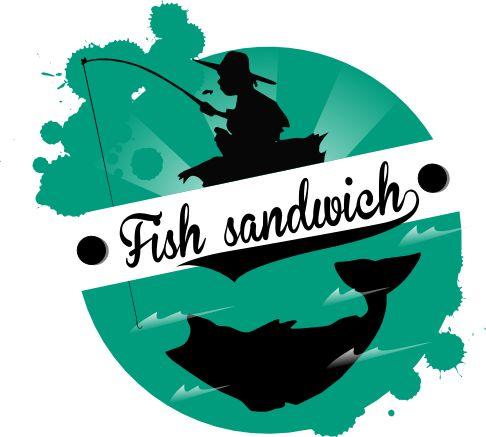 Huckleberry Finn és a Big fish ihlette halas szendvics logó