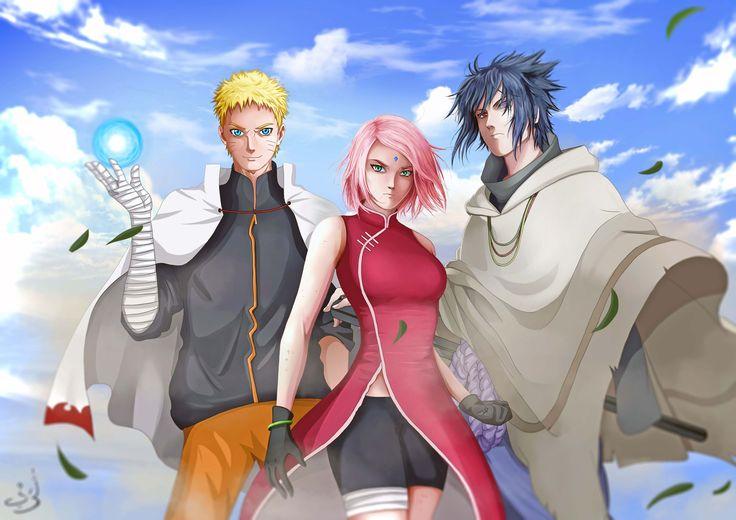 3 konoha sannin uzumaki naruto, haruno sakura, uchiha sasuke   #narutoart #aretaart #sakura #ucihasasuke #digitalart #narutothelast