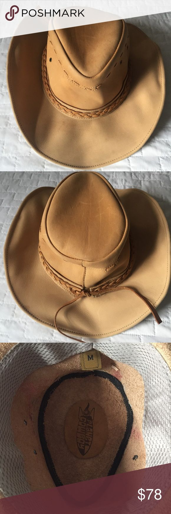 🤠 Leather Western Cowboy Hat Never worn. In great condition. Will only look better with age. Bought from the famed NYC store, Space Cowboy.   The one in the first two photos isn't the actual hat, just wanted to give you a professional grade photo for an idea.   Size M Space Cowboy Accessories Hats