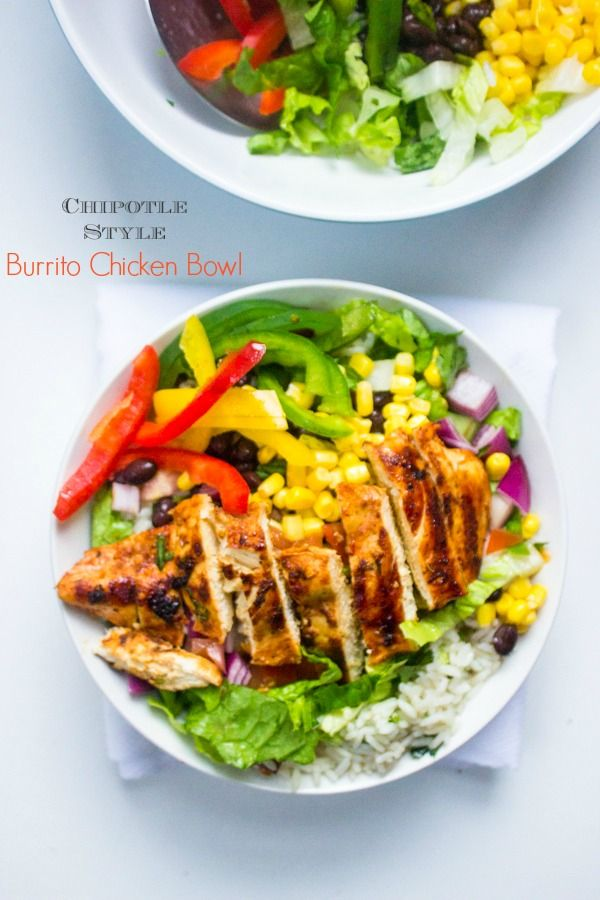Chipotle's Chicken Burrito Bowl with Cilantro Lime Rice - Brunch Time Baker