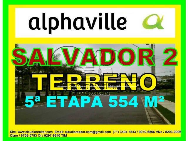 Lote, Terreno a venda, Alphaville Salvador 2, 554 m²