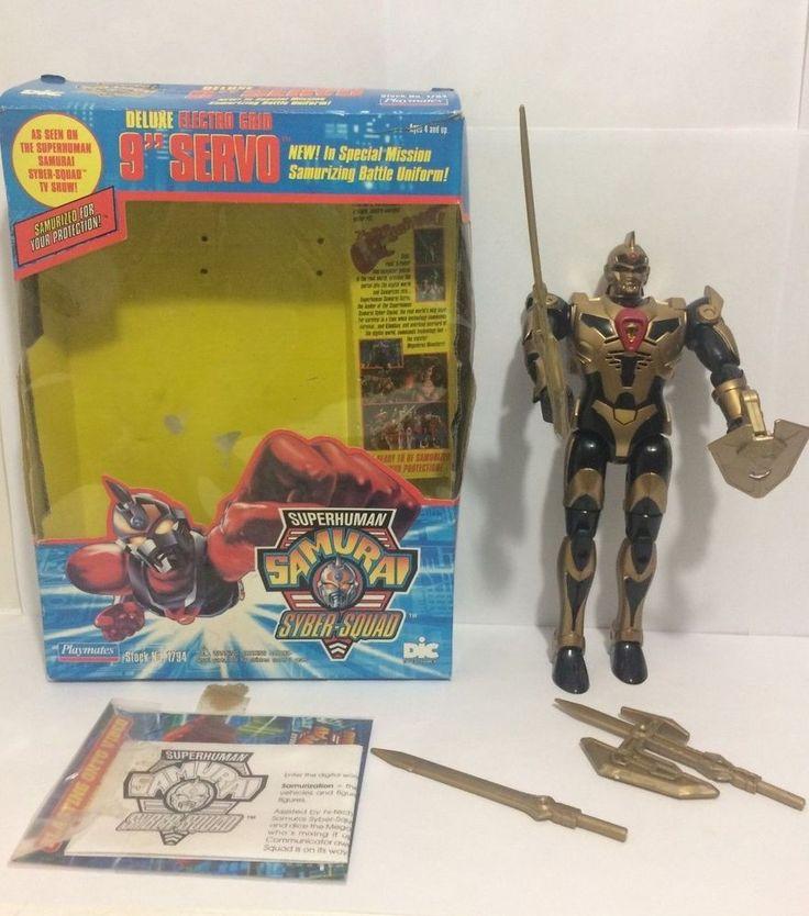 "Deluxe 9"" Servo Action Figure Superhuman Samurai Syber Squad CIB 1994 Playmates #PlaymatesToys"
