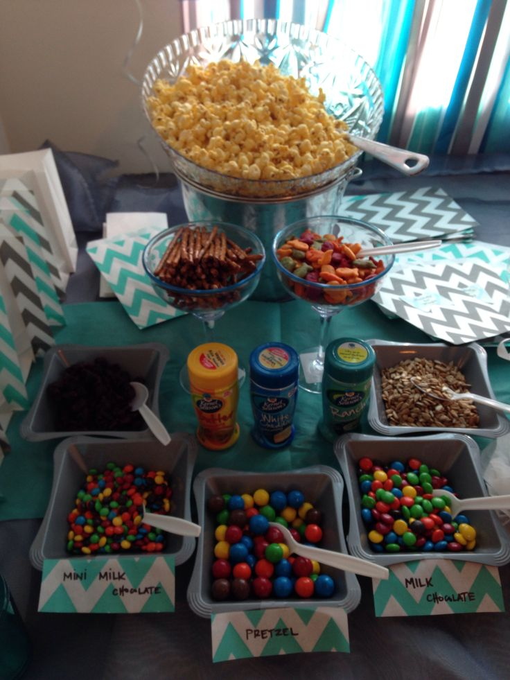 This popcorn bar would be a great addition to any movie night!