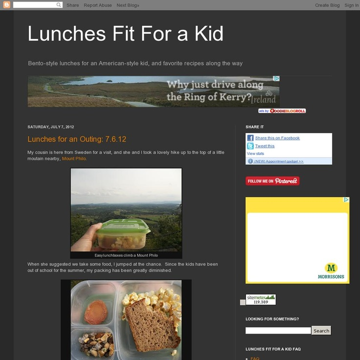 Lunches Fit For A Kid  The website 'http://lunchfitforakid.blogspot.com' courtesy of Pinstamatic (http://pinstamatic.com)