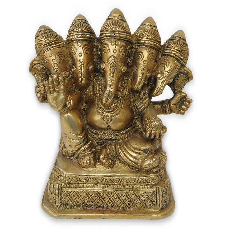 Christmas Gifts Five Face Ganesha Brass Statue: Amazon.co.uk: Kitchen & Home