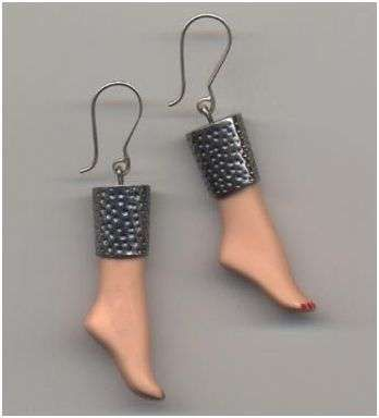 Barbie Doll Parts Made Into Jewelry