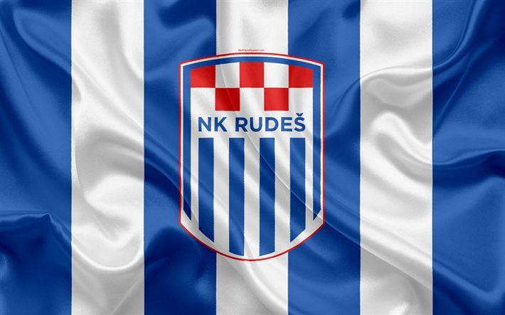 Descargar fondos de pantalla NK Rudes, 4k, croata de fútbol del club, emblema, logo, futbol americano, bandera, HNL, croata Campeonato de Fútbol, croata Primera Liga de Fútbol, Rudes, Croacia, Rudes FC