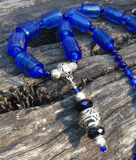 Glass+chunky+necklace+glass+statement+by+JewelleryArtDPDesign
