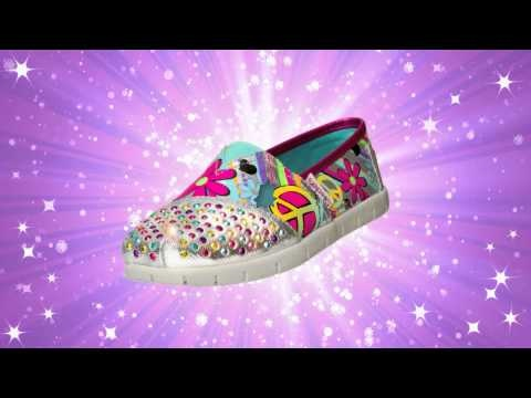 Take the stage with SKECHERS Twinkle Toes and her brighter, bolder sneakers!