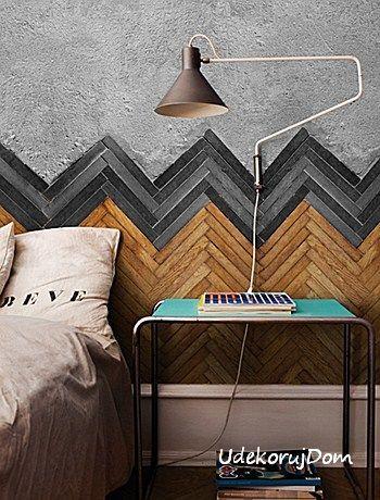 Podłoga na ścianie? Czemu nie! Fototapeta Wall&Deco.