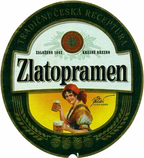 """Czech beer """"Zlatopramen"""" from Krásné Březno (North Bohemia), Czechia"""