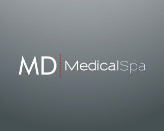 MD Medical Spa Logo Design