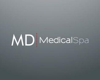 MD Medical Spa Logo Design