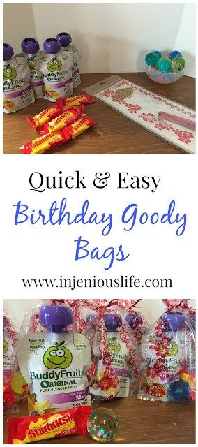 Quick and Easy Birthday Goody Bags - Tutorial with Printable Inside! | injeniouslife