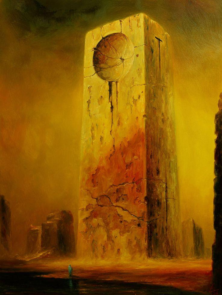 PO DRUGIEJ STRONIE STYKSU 60x80 Mariusz Lewandowski - oficjalna galeria i sklep internetowy polskiego malarza surrealisty