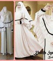 Baju Gamis Murah dan Cantik Khalifa broken white