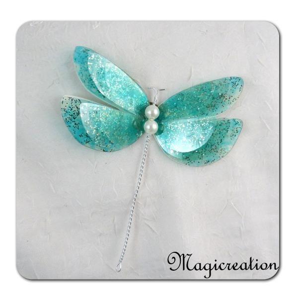 libellule GM décorative 3D turquoise