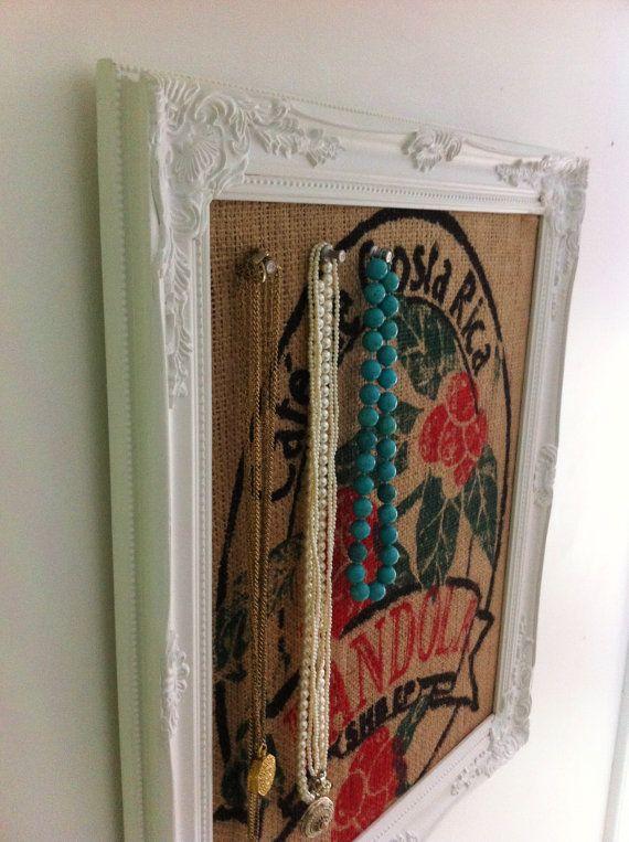 Repurposed Burlap Coffee Bean Sack Pin Board Eco by BagsNboards, $58.00