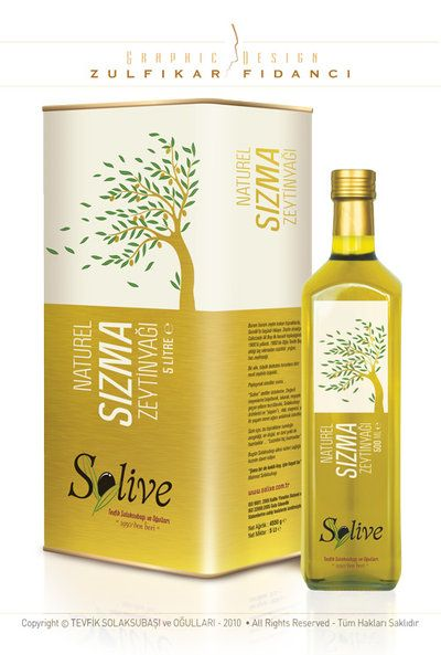 Solive Oliveoil Label and Package by byZED on DeviantArt