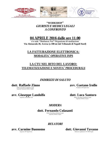 Studio Legale Buonomo (Na / Ce): Evento formativo per CTU, Aversa (Ce) 04/04/2016 d...