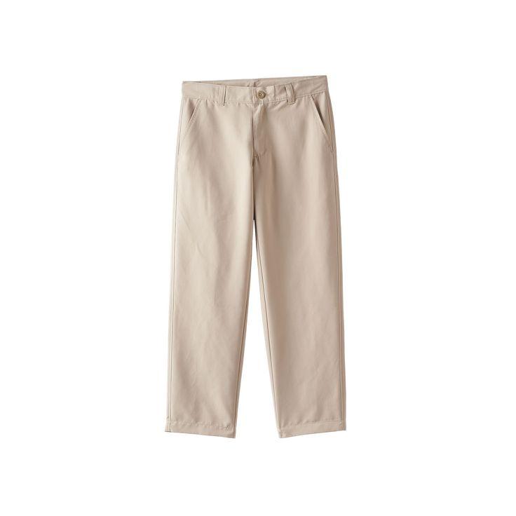 Boys 8-20 Chaps Performance School Uniform Pants, Boy's, Size: 14, Beig/Green (Beig/Khaki)