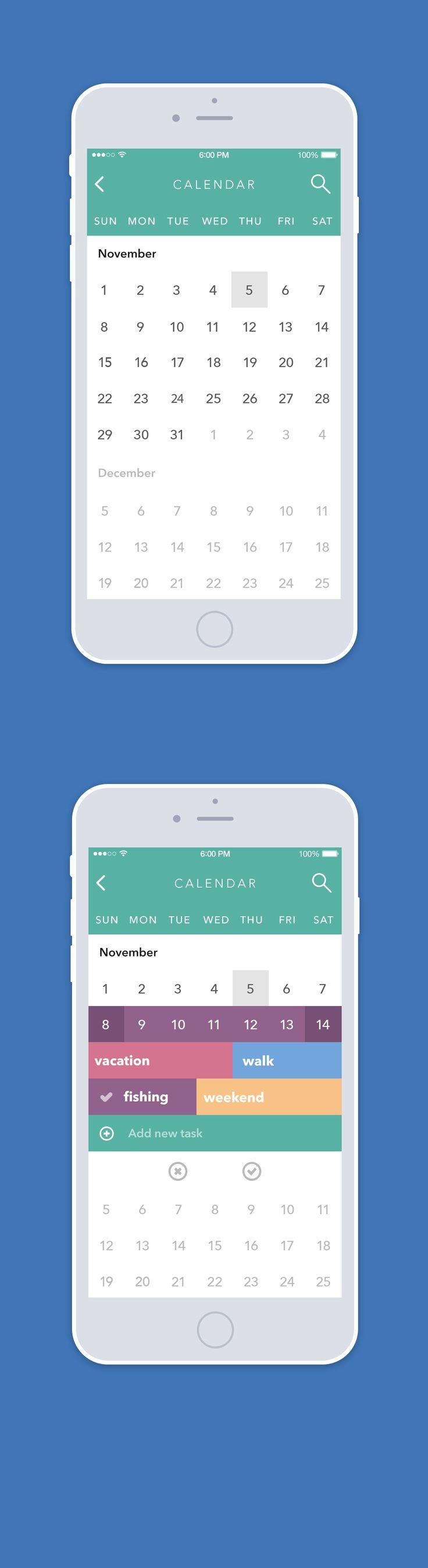 Calendar by Sergey Valiukh