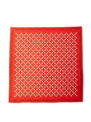 Valentino Women's Polka Dot Scarf (Red)