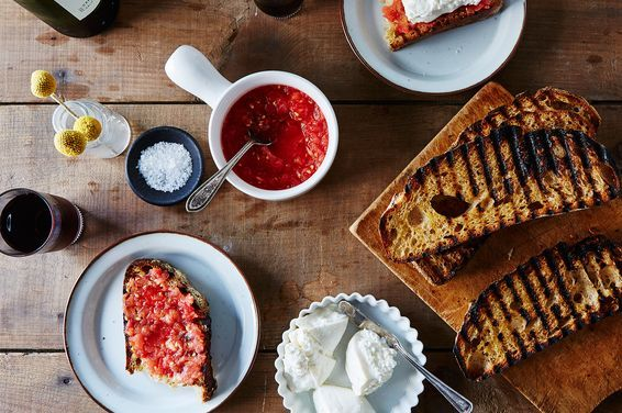 Pan con Tomate with Burrata, a recipe on Food52