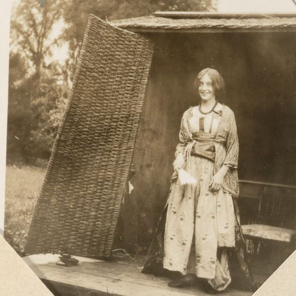 Angelica Bell (later Garnett) at her aunt Virginia Woolf's home Monk's House in Sussex.