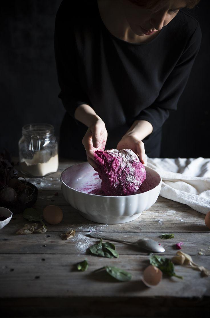 Gnocchi di barbabietole con pesto di spinaci, noci e primosale- Beet gnocchi with spinach pesto, walnuts&primosale - Frames of sugar-Fotogrammi di zucchero