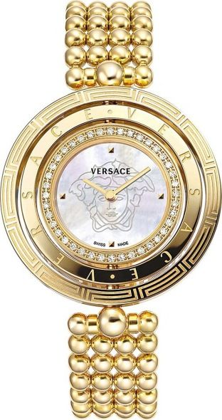 Versace Versace Eon Mother of Pearl Dial Gold with Diamonds Bracelet Watch