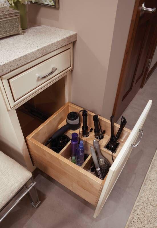 1000 ideas about hair appliance storage on pinterest - Bathroom vanity drawer organizers ...