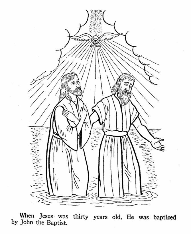 John The Baptist Baptises Jesus