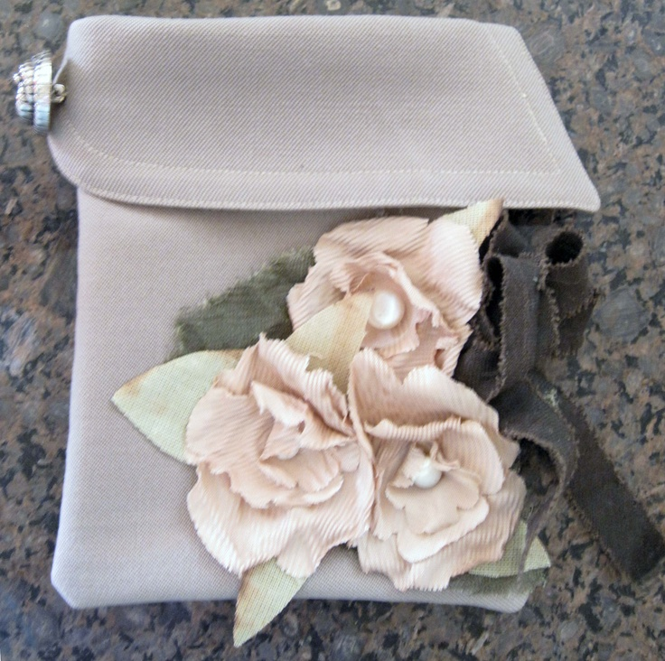 Another purse from my Mother's Wedding coat!