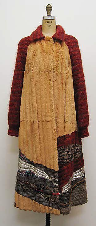 Coat   ca. 1980 fur, leather, wool, silk, synthetic Koos van den Akker (1939)*   for   Ben Kahn Furs