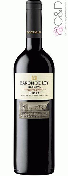 """Dieser kräftiger Rotwein aus den Weinbergen; Rioja mit der rauchigen Note, sowie gereift in 44 Monate kommt aus Spanien, direkt von dem Hersteller """" Baron der Ley"""", und hat die Rebsorte - Tempranillo."""