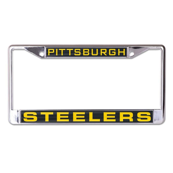 Pittsburgh Steelers License Plate Frame - Inlaid