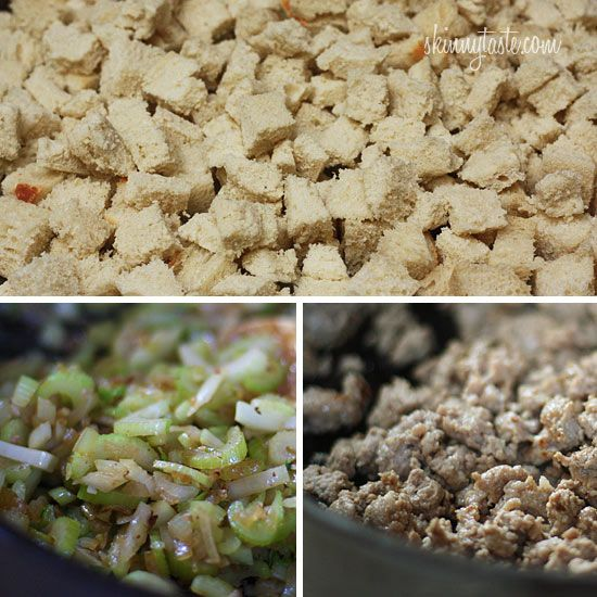 Chicken Sausage Brown Rice Stuffing With Celery And Mushrooms Recipe ...