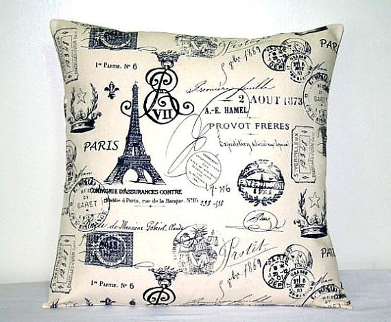 Throw Pillows With French Script : 98 best images about Dorm Room Ideas on Pinterest Auburn university, Cushion covers and Lofted ...