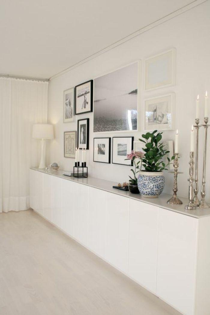 meuble chaussure ikea blanc dans le couloir de couleur taupe
