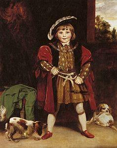 Joshua Reynolds - Master Crewe como Enrique VIII, 1775.