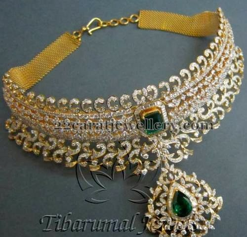 Jewellery Designs: Regal Diamond Necklace