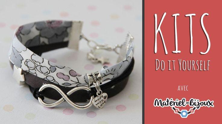 Kit DIY : vidéo de création d'un bracelet tissu Liberty - YouTube