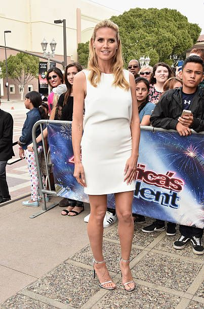Model Heidi Klum attends NBC's 'America's Got Talent' Season 11 Kickoff at Pasadena Civic Auditorium on March 3 2016 in Pasadena California